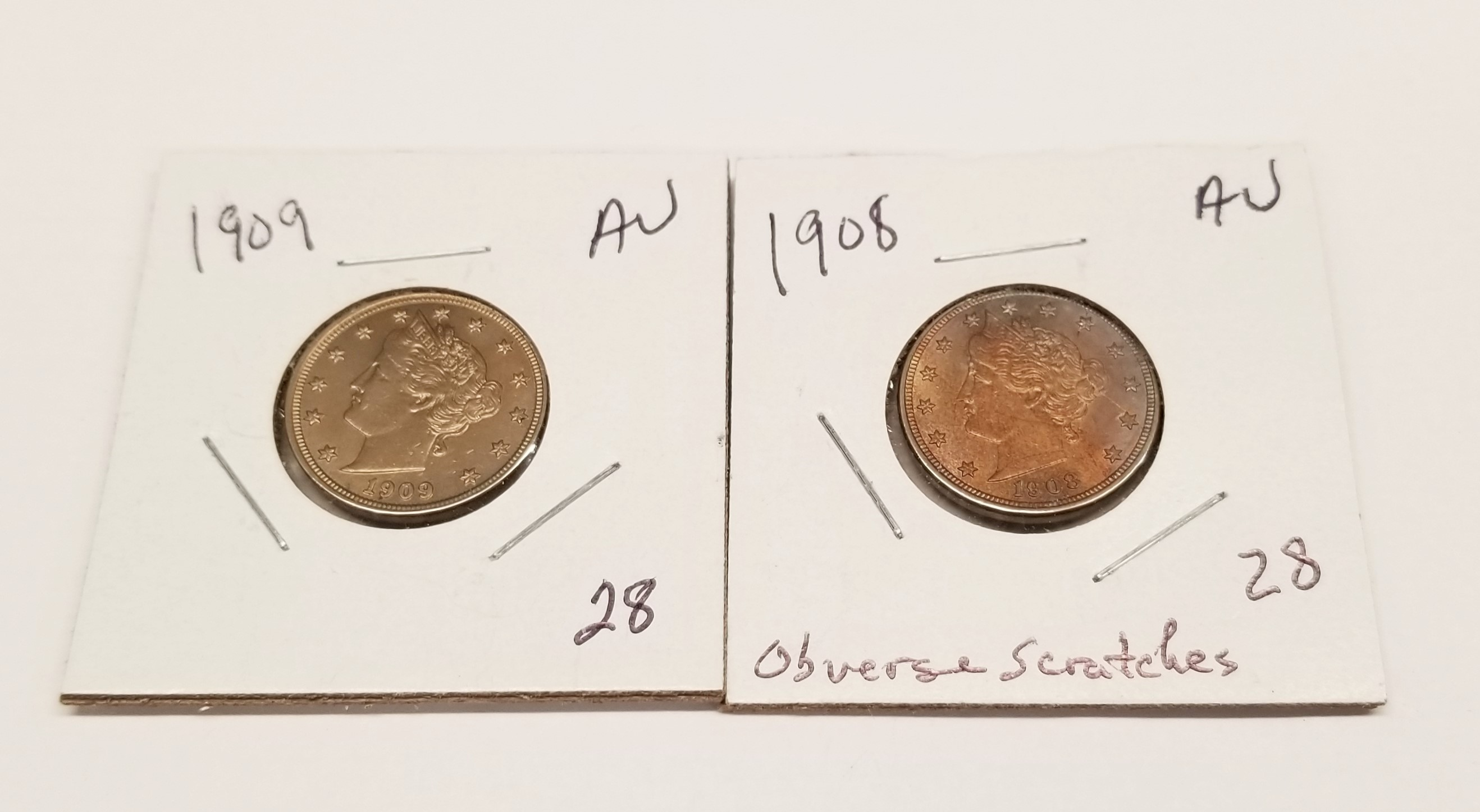 Lincoln Cent collection 1909 VDB VF//XF 75 high grade coins. 1940-S set