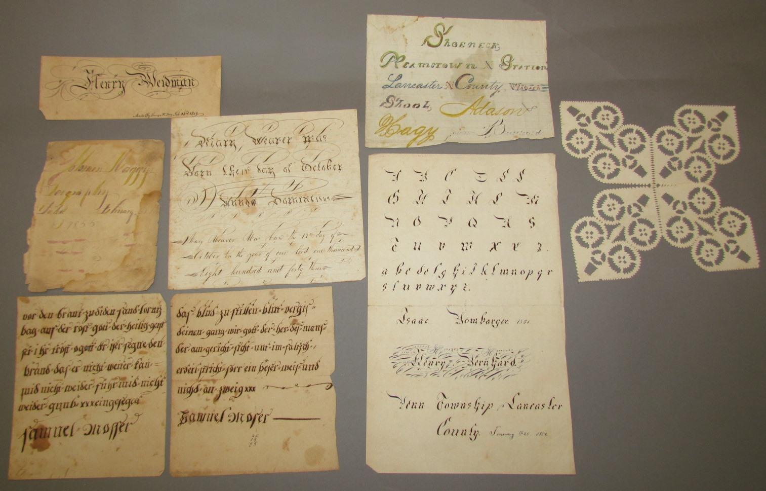 Assorted Paper 1830/'s-1970/'s Altered Art Craft Vintage 12 pc, 9 Handwritten